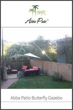 If you are looking for a beautiful sunshade for when the weather gets nice, check out our review of the Abba Patio Butterfly Gazebo, which is a classically designed soft top gazebo which is relatively low maintenance.  #abbapatio #softtopgazebo #gazebolife #backyardlife Permanent Gazebo, Portable Gazebo, Backyard, Patio, Lots Of Money, Outdoor Settings, Day Trips, Good Times, Pergola