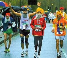"Fauja Singh who is 101 years old is running in the London Marathon on a team called the ""Sikhs in the City""! Fauja Singh, Wise Men Say, Mother India, London Marathon, Important News, Marathon Runners, World Religions, Every Man, A Team"