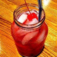Hillbilly Punch Recipe ~ white rum, peach schnapps, amaretto liqueur, cranberry juice cocktail, lemon-lime flavored carbonated beverage