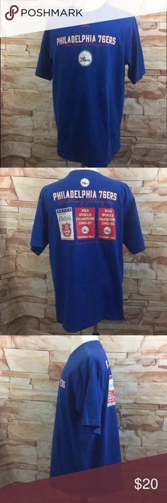 "Adidas VTG Philadelphia 76ers History of Champ Tee Adidas VTG Philadelphia 76ers  History of Champions T-Shirt  Mens Size XL   100% Cotton Crew Neck Graphic Print Short Sleeve  Measurements Approximate: Shoulder to Shoulder - 22"" Armpit to Armpit - 25"" Sleeve Length - 11"" Shirt Length - 32"" adidas Shirts Tees - Short Sleeve"