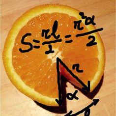La matematica e' nella frutta! Calcolo dell'arco di cerchio di una arancia #mathsfera #matematica #math | SnapWidget