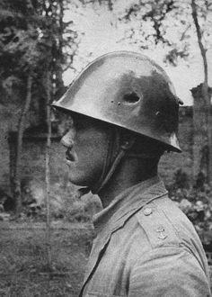japanese soldier helmets | photo