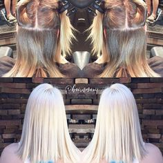 Thank you @kenraprofessional and @Olaplex for helping us with our Icy  Transformation -- #btconeshot_haircolor16 #before #after #beforeandafter #beautylaunchpad #elsa #blondehair #summerhair #cheveuxandco #hairnmusic #colorcorrection #olaplex #loyalcustomer #treatments #healthyhair @burchrdh #stylistsupportingstylists #btconeshot_transformations16