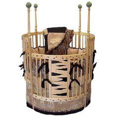 Safari Round Crib from PoshTots