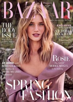 Rosie Huntington-Whiteley by Pamela Hanson for Harper's Bazaar Australia October 2016 Cover
