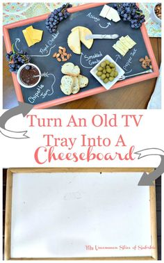 How to turn an old tv tray into a cheeseboard