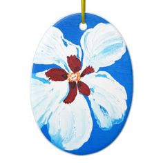 Hibiscus Flower Painting Ornament