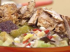 Grilled Chicken Posole Salad recipe from Rachael Ray via Food Network