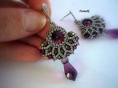 Dark purple world earrings