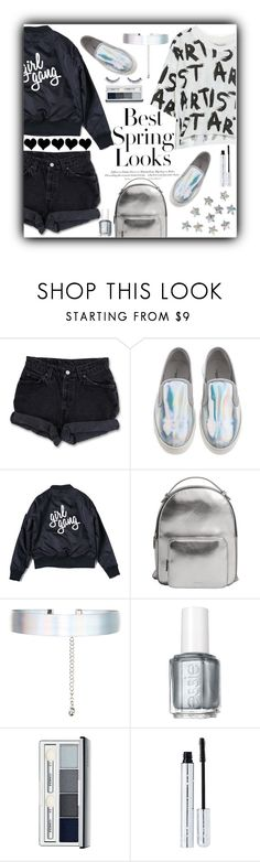 """We're the voice of the new generation"" by xcuteniallx ❤ liked on Polyvore featuring H&M, Levi's, MANGO, Accessorize, Essie, Clinique, 100% Pure and Napoleon Perdis"