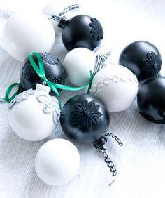 Maak zelf unieke kerstballen van vilt, wol of restyle je oude kerstballen!