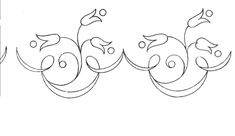 Motifs fleurs - Broderie d'Antan. Embroidery Pattern. jwt