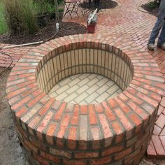 Fire pit, with brick