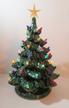 vintage style lighted christmas tree made to order in 4 different sizes tabletop christmas treeceramic