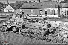 A abandoned SdKfz 234 Military Gear, Military Weapons, Military History, Military Vehicles, Armored Car, Armored Vehicles, Germany Ww2, Ww2 Photos, War Image
