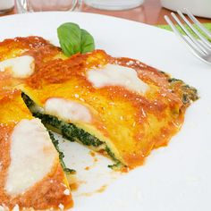 Italian Crepes Stuffed With Spinach And Mozzarella Recipe from The Italian Kitchen fr kev Italian Crepe Recipe, Italian Pasta Recipes, Italian Dishes, Italian Foods, Entree Recipes, Vegetable Recipes, Crepes, Kitchen Recipes, Cooking Recipes