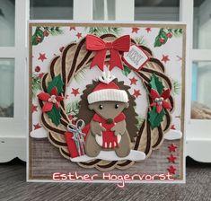 Marianne Design, Cardmaking, Wicker, Christmas Cards, Santa, Wreaths, Contemporary, Holiday Decor, Sue Wilson