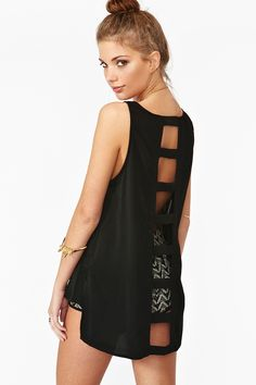 Caged Tank in Black