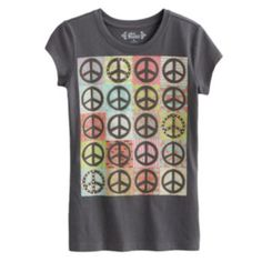 Mudd Peace Sign Collage Tee - Girls 7-16