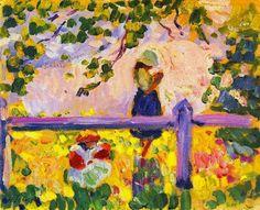Girls In a Garden - Henri Lebasque 1905  French 1865-1937