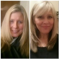 Bangs are back- before and after!