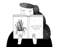 book, reading, plant - Sabrina Arnault
