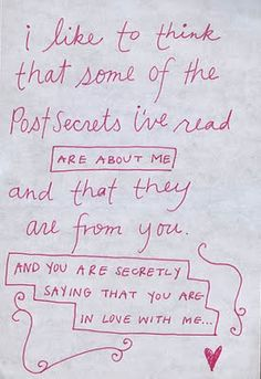 ... you and you are secretly saying that you are in love with me. #quotes