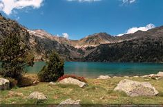 Mountain lake in french Pyrenees - Aubert lake, Neouvielle natural reserve, Pyrenees, France