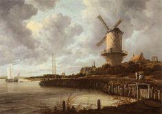 Jacob Isaacksz Ruisdael - The windmill near Wijk bij Duurstede at Rijksmuseum Amsterdam | par mbell1975
