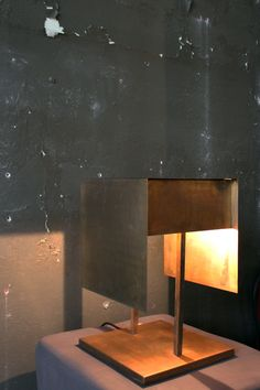 Square Brass lamp by Harry Eigenberg /// More on Interiorator.com