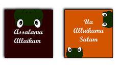 Meij schönes Kinderzimmer. Salim der Frosch als Set. Assalamu Allaikum & Ua Allaikumu Salam.