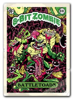 Zombietoads!    The only thing harder than this tee is the game itself.    TOADILY AWESOME.