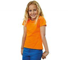 Meisjes t-shirt korte mouw, 165 gr/m2, zachte kwaliteit