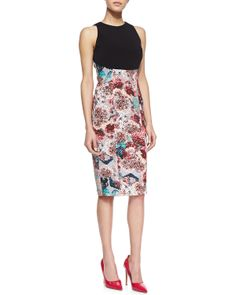 Nha Khanh Estelle Solid-Top Fitted Dress