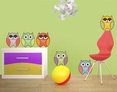 Popular  Wandtattoo Babyzimmer No EV Owly Owls II Eule Eulen Wand
