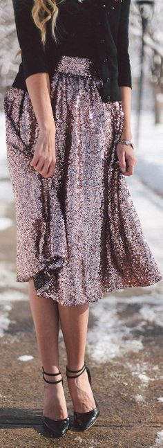 So so beautiful..... sequins, cashmere and pumps... aaahhhh!