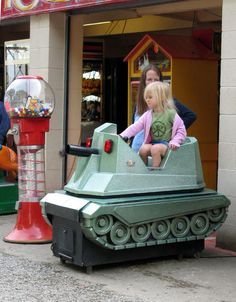 Every kid dreams of their own tank.