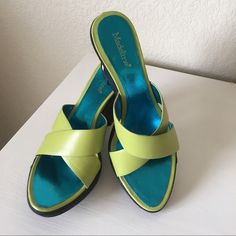 Shoes Supper cut wedge sandal. Warn once in doors. In excellent condition. Madeline Stuart Shoes Sandals