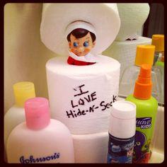 Elf on the Shelf - Playing Hide-N-Seek... more super cute ideas