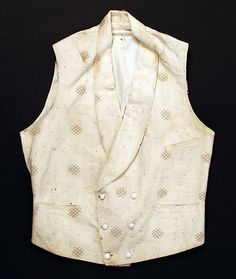 (c. 1840s) American waistcoat made of cotton and linen.