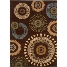LR Resources Contemporary Brown Rectangle 5 ft. 3 in.x 7 ft. 5 in. Plush Indoor Area Rug