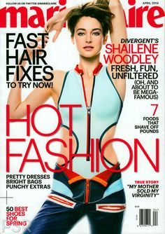 Shailene Woodley Details Her First Kiss for 'Marie Claire'!: Photo Shailene Woodley is looking super hot in a skin tight outfit on the cover of Marie Claire's April 2014 issue, on newsstands March Here is what the Shailene Woodley, Fashion Magazine Cover, Magazine Covers, Fashion Cover, Weird Fashion, Uk Fashion, Fashion Editor, Hair Fixing, Elle Us