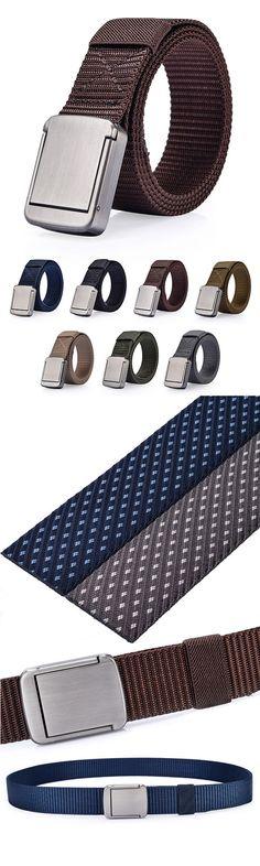 118CM Men Women Nylon Alloy Buckle Belt Outdoor Casual Military Tactical Durable Pants Strips