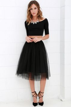 You never know what romance could be around the next corner, so be prepared with the Urban Fairy Tale Black Tulle Skirt