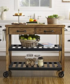 Love this cart for my kitchen area.