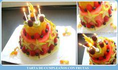 Tarta de Cumpleaños con Frutas