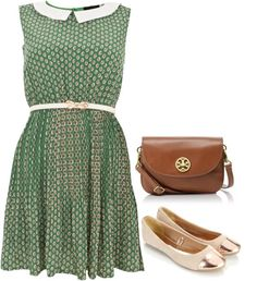 """Green Collar"" by spanwayhits on Polyvore"