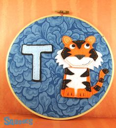 Felt Tiger Hoop Art -T is for Tiger from Squshies