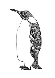 Penguin sketch Art Print  FOUND IT!!! this is the one that I think is cool
