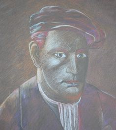 Pete Holbrook -  Miner in coloured pencil.